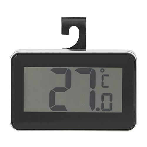 Lazmin Digital-Kühlschrankthermometer, wasserdichtes Temperaturüberwachungs-Messgerät-Thermometer für Hauptkühlraum-Gefriermaschine(Schwarz)