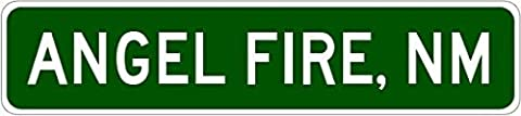 Custom Street Sign ANGEL FIRE, NEW MEXICO City Limit Sign - Heavy Duty - 3x18 Inches Aluminum Metal Sign