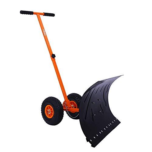 Schneeschaufel, Ohuhu verstellbarer fahrbarer Schneeschieber, Hochleistungsrollende Schneepflugschaufeln, effizientes Schneepflug-Schneeräumwerkzeug ã€AKTUALISIERTE VERSION】
