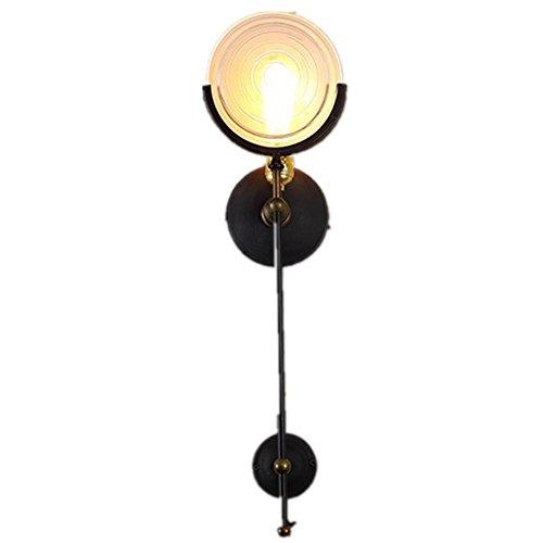 FWEF Hardware vetro pulsante parete lampada retrò ristorante illuminazione corridoio scale soggiorno creativo artistico artistico industriale illuminazione 61 * 17cm , dw-b0486-1l