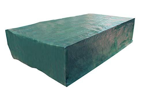 Laxllent set di copertura per mobili da giardino,copertura protettiva per giardino da esterno impermeabile,set di divani,verde (315x160x70cm)