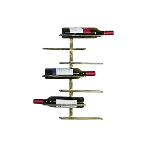 Scaffale di vino di arte retrò in metallo a parete, mensola di bottiglia di vino vento industriale, decorazione di raffreddamento del vino di casa ristorante li jing shop