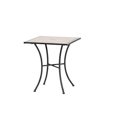 Siena Garden Prato Tisch eckig Eisen mit Mosaikoptik, 60 x 60 cm, mehrfarbig