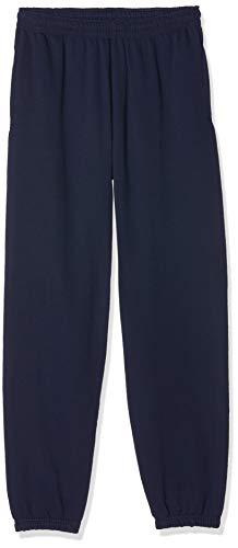 Fruit of the Loom Jogpants mit offenem Beinabschluss Navy L