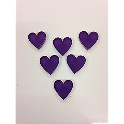 Personalizzabile in compensato di betulla, scatola regalo di matrimonio libro degli ospiti 104Cuori 36x 34cm Anniversario di matrimonio rustico Shabby Chic Keepsake, Legno, Cadbury purple, 56 hearts 36x34cm