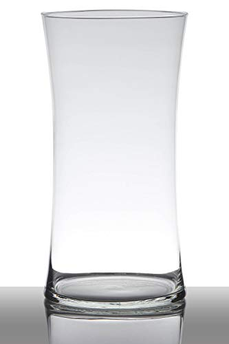 INNA-Glas Bodenvase Glas Denny, Sanduhr - rund, klar, 40cm, Ø 20cm - Glasvase - Tischvase