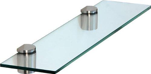 Ib-style - design - scaffale di vetro scaffale da muro mensola in vetro trasparente 40 x 20 cm / 8 mm tasselli a espansione di design colore finto acciaio - reggimensole