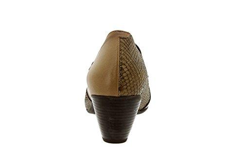 Scarpe donna comfort pelle Piesanto 5406 strappi scarpe casual comfort larghezza speciale Taupe