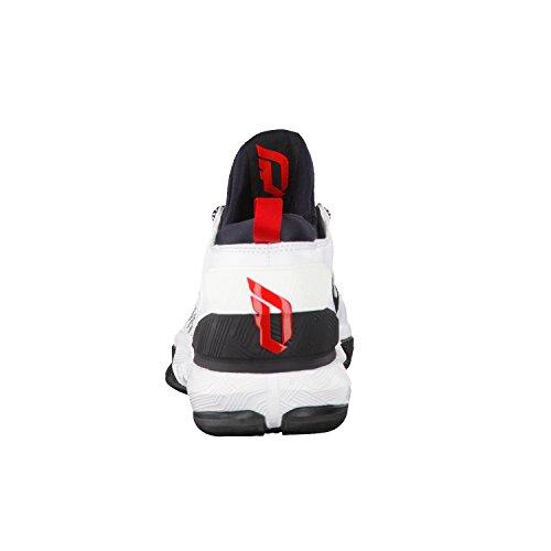 adidas D Lillard 2 PK, Scarpe da Basket Uomo Bianco (Blanco (Ftwbla / Negbas / Escarl))