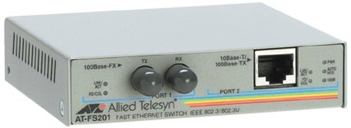 Allied Telesis AT-FS201-60 Medienkonverter (10Base-T, 100Base-FX, 100Base-TX zu ST multi-mode/RJ-45) bis zu 2 km