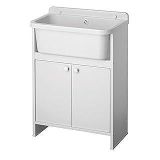 Negrari 5001PKC Space-Saving Washbasin, White, 55 x 35 cm