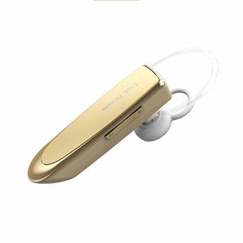 Bluetooth Headset Minkle 24 Stunden Sprechzeit Wireless HiFi Stereo Ohrhörer mit Mikrofon für Smartphone, iPad, iPod usw., Golden
