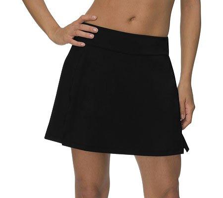 Fila Womens Long Vented Comfort Waistband Skorts Black
