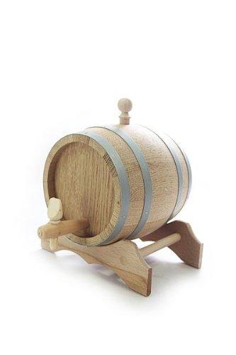 Holzfass mit Ständer 1l, aromaneutral versiegelt