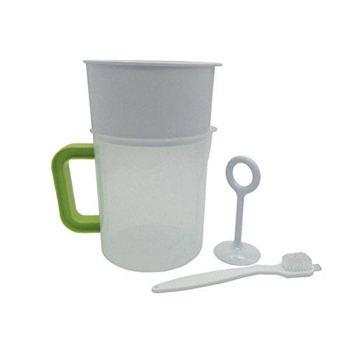 BESTONZON 4 STÜCKE 1,5 L Kunststoff Sojamilch Maker Filter Set Sojamilch Sieb Mutter Milchbeutel Alternative einschließlich Filter Cup Rod Pinsel -
