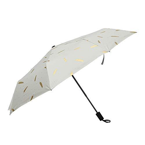 BUY-TO Reise-Taschenschirm Sonnenschirm Winddichter 8K Rahmen Windresistentes Anti-UV,White