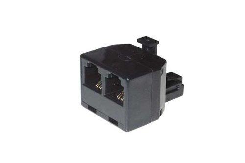 Preisvergleich Produktbild Modular Duplex Adapter RJ12 Stecker - 2 x RJ12 Kupplung, VE=1