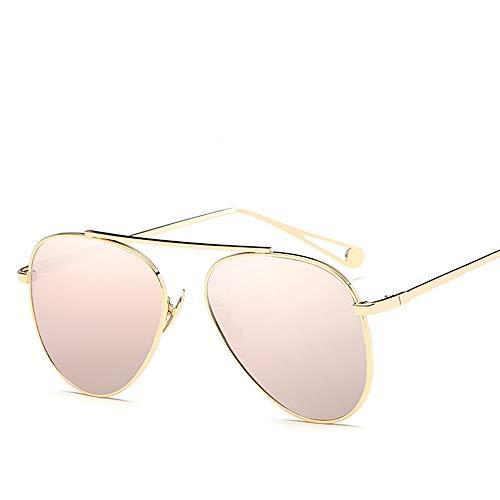 QDE Sonnenbrillen Pilotensonnenbrille Aviation Vintage Sunglass Female Fahren Polarisierte Sonnenbrillen, Pink