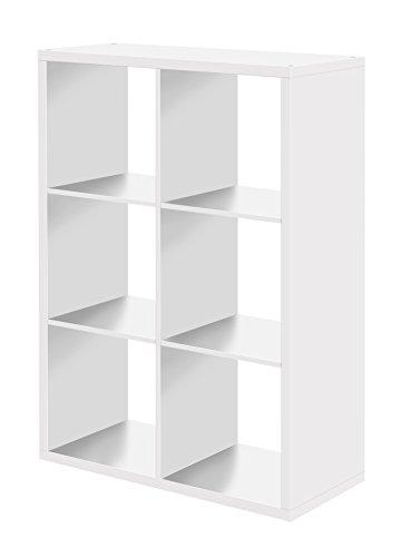 Raumteiler 6 Fächer - Bücherregal, Standregal (verschiedene Farben), 25 mm, made in Germany
