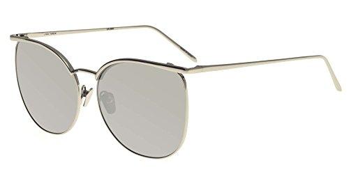 Linda Farrow Sonnenbrillen 509 WHITE GOLD MIRROR WHITE GOLD/PLATINUM MIRROR Damenbrillen