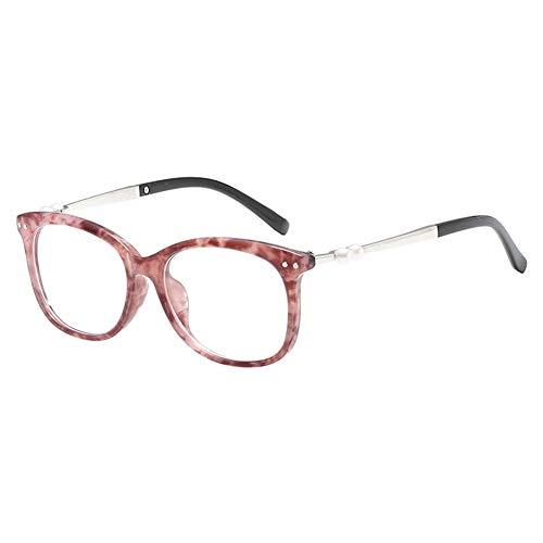 Moberlin Frauen Gläser - Klare Linse Brillengestell Metallgestell Perle Brillenfassung Klassische...