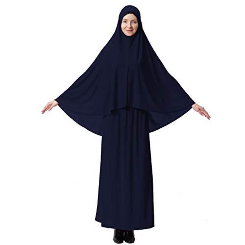 Luckiests Frauen Burqa Anzug Robe Lady Wüste Thobe Hijab Mädchen Langarm-Kopf-Abdeckung Kleid