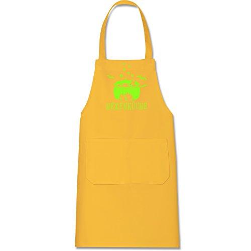 Gelben Mit Hut Dem Kostüm Mann - Shirtracer Küche - Hexenküche - 80 cm x 73 cm (H x B) - Gelb - X967 - Kochschürze mit Tasche