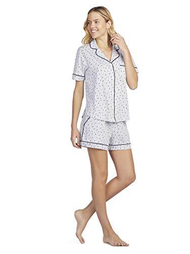 Dkny-pyjama (DKNY New Signature Kurz-Pyjama, geknöpft Damen)