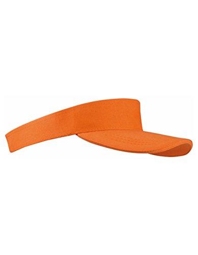 Tennis Hat (Sun Visor Cap Sandwich Sonnenblende Mütze Sport Kappe viele Farben (Orange))