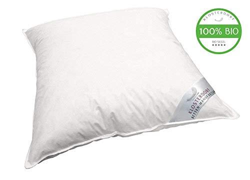 Klosterdorf Bettenmanufaktur Bio-Line! Kopfkissen \'\'prächtig Deluxe\'\' | 80x80 cm | 950 Gramm | Handarbeit aus Deutschland | Für einen gesunden Schlaf