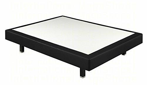 Boxspringsysteme starr Pikolin Kunstleder 3d – Versand kostenlos und erhältlich in allen Maßnahmen x cm (90x190, Schwarz)