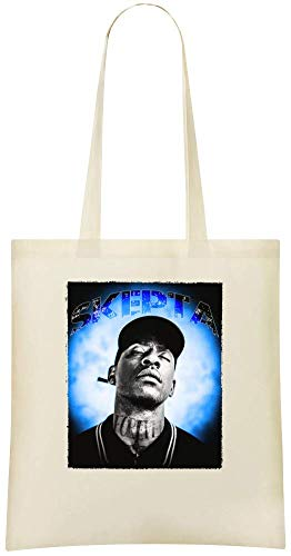 Yummy Apparel Glänzendes Skepta-Porträt - Shining Skepta Portrait Custom Printed Shopping Grocery Tote Bag 100% Soft Cotton Eco-Friendly & Stylish Handbag For Everyday Use Custom Shoulder Bags