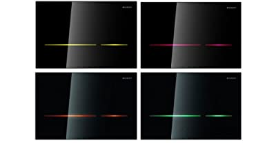 Geberit Abdeckplatte Sigma 80 116.090.SG.1 mit Betätigung von vorne, 2-Mengenspülung Glas, schwarz, 116090SG1 von Geberit auf Heizstrahler Onlineshop