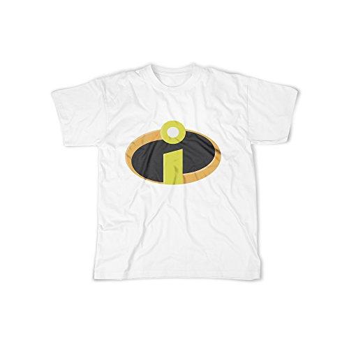 licaso Männer T-Shirt mit Aufdruck in Weiß Gr. M Superhelden Familie Design Boy Top Jungen Shirt Herren Basic 100% Baumwolle Kurzarm (Dschungel-print-outfit)