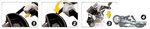 """InnoPet """"First Class"""" Hundebuggy Jogger Buggy Hundetasche Hundewagen Pet Stroller blau grau - 4"""