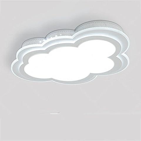 GUO - - Plafonnier pour enfants simples et modernes garçons et filles créatifs ont conduit la chambre à coucher chaleureuse dessin animé Lampes de la salle de princesse LED Plafonniers Haute qualité Neutre Flush Mount Plafonniers pour le salon Chambre Hallway Kitchen