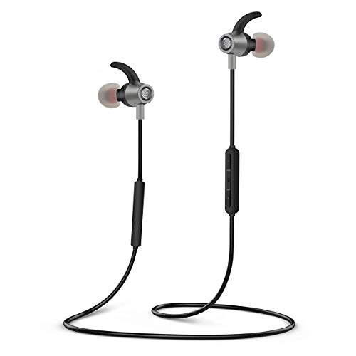 Bluetooth Kopfhörer, SYOSIN Sport Kopfhörer V4.2 IPX6 Stereo Wireless Ohrhörer mit 12 Stunden Spielzeit, In Ear Sport Headset mit Mikrofon, Noise Cancelling für iPhone Samsung Huawei
