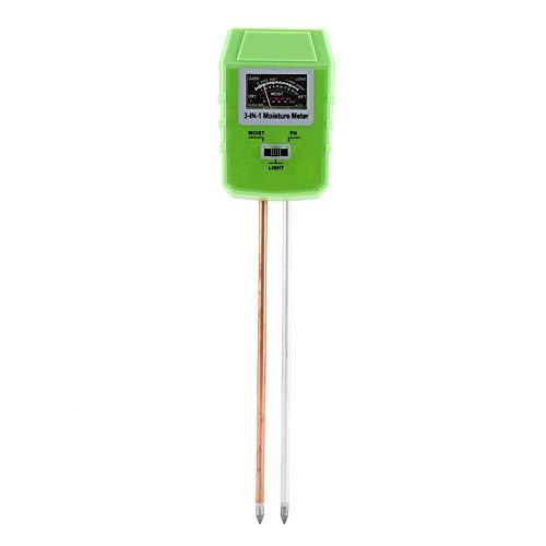 Rapitest Ph-meter (Garosa Bodenprüfgerät 3 in 1 Bodentester Bodenhygrometer PH Temperatur Sonnenlicht Luftfeuchtigkeit Acidity Analyzer Detector Reader mit Doppelsonden Sensor)
