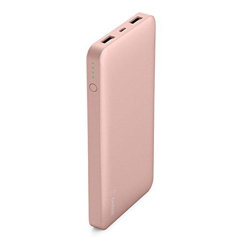 Belkin Pocket Power Bank 10000 mAh Externer Akku (zertifizierte Sicherheit, für iPhone X, XS, XS Max, XR, 8 , 8+, 7, iPad, Samsung Galaxy S10, S10+, S10e)roségold