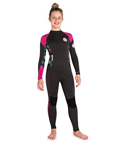 Zip Front Shirt Mädchen (RIP CURL WSM8DS Dawn Patrol Kids,3/2 mm Steamer Back Zip, Neoprenanzug,Purple,16Y/172cm)