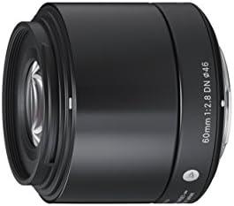 Sigma 60 mm f/2.8 DN - Objetivo para Sony (distancia focal fija 90mm, apertura f/2.8-22, diámetro: 46mm) color negro