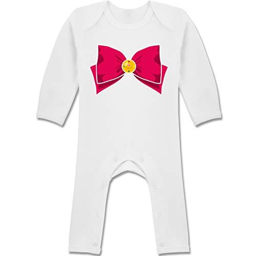 Moon Sailor Saturn Kostüm - Shirtracer Karneval und Fasching Baby - Superheld Manga Moon Kostüm - 6-12 Monate - Weiß - BZ13 - Baby-Body Langarm für Jungen und Mädchen