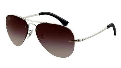 New Ray Ban RB 3449 003/8G Silver Men Women Metal Sunglasses
