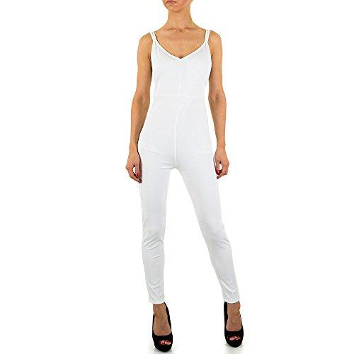 Jumpsuit Overall Für Damen bei Ital-Design Weiß