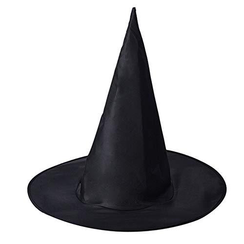 wachsene Frauen Schwarze Farbe Hexe Hut Für Halloween Kostüm Zubehör Kostüm Party Requisiten ()