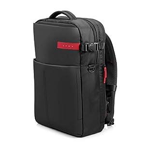 """31umO4dL4rL. SS300  - HP OMEN - Mochila para portátiles gaming de hasta 17.3"""" (bolsillos internos, malla ajustable, espalda acolchada), color negro y rojo"""