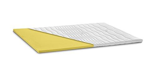 snoozo ViskoPUR | Visko-Schaum Topper Matratzenauflage | 7cm Gesamthöhe | Abnehmbarer und waschbarer Bezug | Memory Schaum | Raumgewicht RG50 | Classic-Bezug | 80 x 200 cm