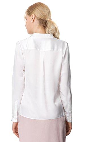 LILYSILK Chemise Femme Soie de Mûrier Chemisier Manches Longues Col Boutonné Style Quotidien Décontracté 22MM Blanc