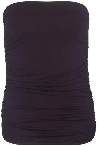 Purple Hanger Damen Pullunder Gold Marron foncé