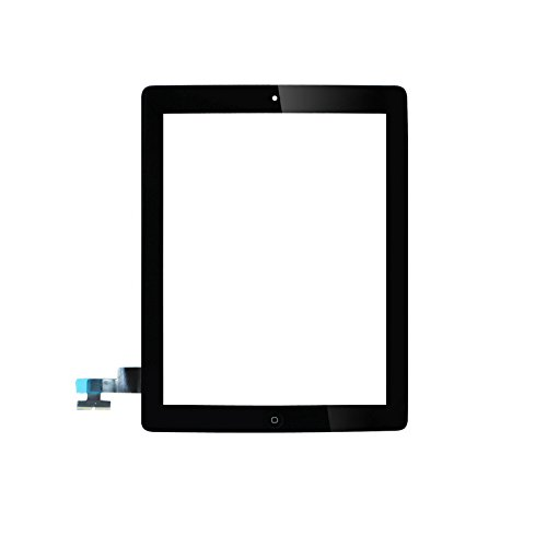 Für Apple iPad 2 Screen-Digitizer Glass Replacement mit Home Button und Werkzeuge zur Reparatur (Schwarz) -